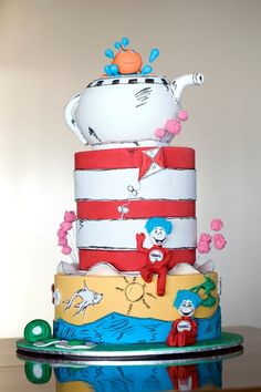 'Green Eggs And Ham': Celebrating The 52nd Anniversary With Dr. Seuss Wedding (CAT IN THE HAT CAKE)