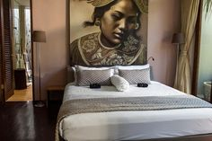 Charming Girl Bedroom With Bali Dancer Painting contemporary balinese home design with small space Home design