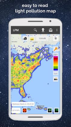 Light Pollution Map - Dark Sky v3.2.2 [Pro]   Light Pollution Map - Dark Sky v3.2.2 [Pro]Requirements:4.0.3Overview:Light Pollution Map allows you to easily locate dark sites where the sky will not be affected by light pollution allowing the best observance star gazing and photography of the night sky!  But it's not just a light pollution map. There's so much more.  Free Version Features:  High resolution accurate data.  Uses your device's GPS to find nearby dark locations.  Search for new…
