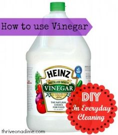 Huge list of ways to clean just about everything with vinegar!