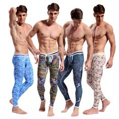 Thermal long underwear Hot Bottoms Bohemian cotton pajamas men's long johns
