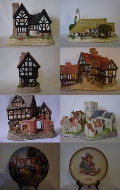 David Winter cottages and Hummel by vdownham on Etsy--Pinned with TreasuryPin.com