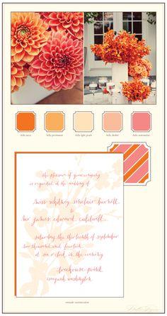 Bella Figura - Summery customization of our Serenade design: Light Peach + Watermelon