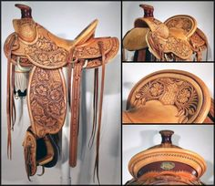 Dale Harwood Hand Tooled Saddle
