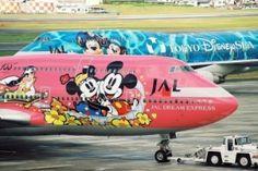 JAL Japan Airlines : Disney themed liveries on two Boeing Disney Planes, Disney S, Disney 2015, Disney Dream, Disney Magic, Civil Aviation, Aviation Art, Hobbit, Dear World