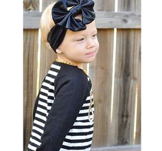 black messy bow headwrap, faux leather messy bow headwrap, black faux leather bow, baby girls bow, girls bow, big bow, baby bow, headwrap by littledarlingsbtq on Etsy