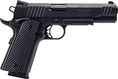 Para USA Black Ops 1911 .45 ACP. Double Stack Mag gives you 14+1 and only adds 1/8 of an inch to the width of the grip.