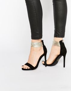 Missguided Metallic Ankle Strap Barely There