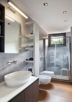 Carta da parati - Andrea Castrignano brings new life to the home with Glamora - Glamora Spa Design, House Design, Small Bathroom Renovations, Bathroom Spa, Bathroom Interior Design, Bathroom Inspiration, House Styles, Milan, Home Decor