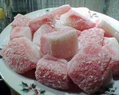 Red and White Mochi Squares: