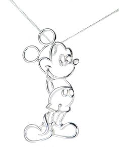 Disney Silver Mickey Mouse Necklace