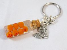Dragonball Z Inspired Keychain or Necklace - Bottled Dragon Balls Glass Vial. $16.00, via Etsy.