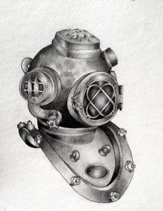 Vintage Diving Helmet by ~roseslaton on deviantART