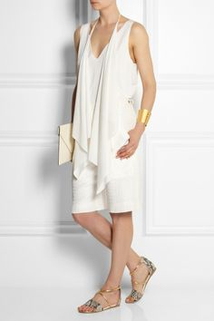 Chloé Silk-blend cloqué shorts NET-A-PORTER.COM