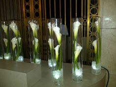 Calla lilies reception wedding flowers wedding decor wedding single calla lily centerpiece google search junglespirit Choice Image