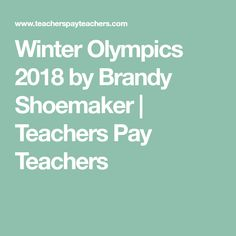 Browse winter olympics 2018 resources on Teachers Pay Teachers, a marketplace trusted by millions of teachers for original educational resources. Winter Olympic Games, Winter Olympics, Struggling Readers, Task Cards, Physical Education, Teacher Pay Teachers, Teaching Resources, School, Physical Education Lessons
