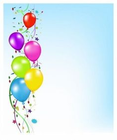 Birthday Invitation Background, Birthday Invitations, Birthday Cards, Birthday Party Decorations For Adults, Adult Birthday Party, Balloon Clipart, Art Clipart, Clipart Images, Balloon Background