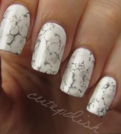Stone marble nail art #cutepolish