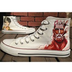 Attack On Titan Shoes Christmas Anime Attack On Titan High-top P,High-top Painted Canvas Shoes