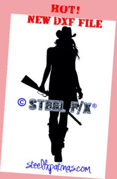 cowgirl with rifle-product hero photo