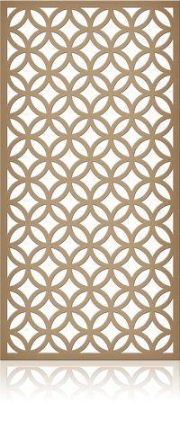 Ажурная декоративная перегородка из фанеры или дерева для зонирования пространства в комнате, квартире, офисе, артикул 17