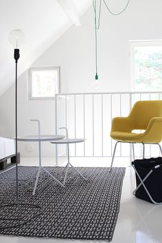 Living room: Cord Lamp by Form Us With Love for Design House Stockholm. Hay DLM table.