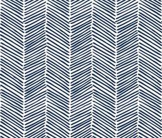 Crib Sheet - Freeform Arrows in Indigo