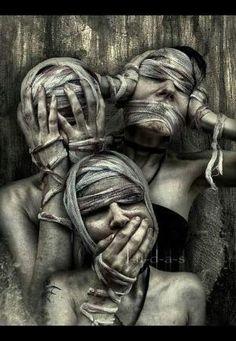 Dark art: See no Evil, Hear no Evil, Speak no Evil by rosalinda