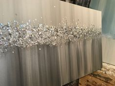 Your place to buy and sell all things handmade – Media Room İdeas 2020 Glitter Wall Art, Glitter Canvas, Glitter Walls, Glitter Wallpaper, Diy Canvas Art, Diy Wall Art, Diy Art, Oil Painting Texture, Resin Art