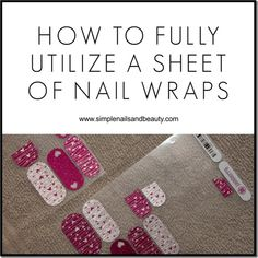 How to Get the Most Use out of a Sheet of Jamberry Nail Wraps https://www.facebook.com/heatheressjams