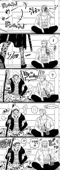 Trafalgar D Water Law Roronoa Zoro One Piece