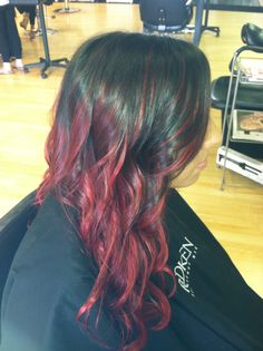 Red Ombre hair <3 pretty