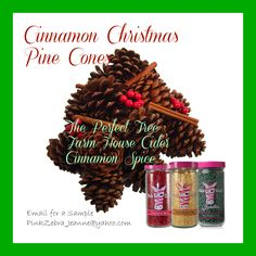 Pink Zebra Custom Scent CINNAMON CHRISTMAS PINE CONES If you love the classic scent of Christmas PineCones, this is your recipe! mix Cinnamon Spice, The Perfect Tree and Farm House Cider  email for sample pinkzebra_jeanne@yahoo.com order by clicking pin