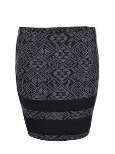 Čierno-sivá sukňa so žakárovým vzorom ONLY Charlot