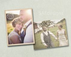 Mrsbostics 100pc Rustic Wedding Thank You Photo by SAEdesignstudio