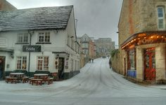 It snows in Swanage sometimes! (England)