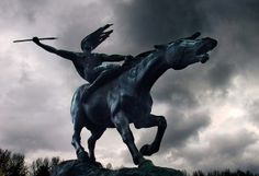 The Wild Horse of the Valkyrie statue at Beale Park, England, UK by Beardy Vulcan, via Flickr