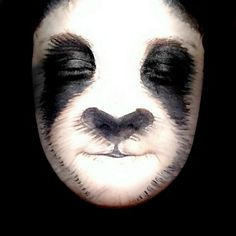 Skulls, Lions And The Super Mario Brothers: Amazing Transformations Of A Young Make-Up Artist - - Incredible creations inlcude animals such as this panda (SWN) Animal Face Paintings, Animal Faces, Face Paint Makeup, Makeup Art, Panda Make-up, Scary Makeup, Halloween Face Makeup, Panda Face Painting, Animal Makeup