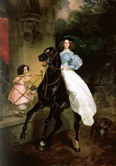 Карл Павлович Брюллов. Всадница.1832. Третьяковская галерея, Москва