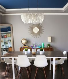 If You Read Nothing Else Today, Read This Report on Mid Century Modern Dining Room Chairs West Elm - decorhomesideas Ikea Dining Table Hack, Ikea Dining Room, Dining Table Height, Dining Tables, Diy Table, Mid Century Modern Dining Room, Midcentury Modern Dining Table, Living Room Modern, Industrial Dining