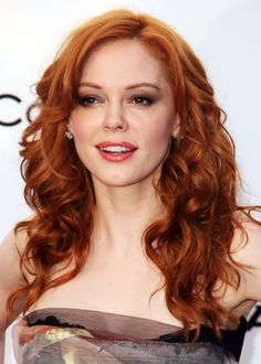 Medium Orange Red Hairstyle