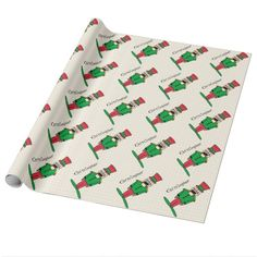 Personalized Nutcracker Wrapping Paper for #christmas