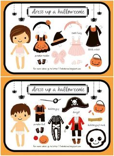 41 Free Printable Paper Dolls -Boy & Girl Dress Up Halloween Paper Dolls