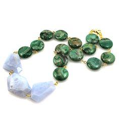 Blau grün-Anweisung Halskette grün-blau-Anweisung von manictrout