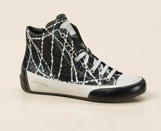 Fantasievoll interpretiert die Marke Candice Cooper das aktuelle Schwarz-Weiß-Thema mit diesem Sneaker High! Kaufen bei Zumnorde!