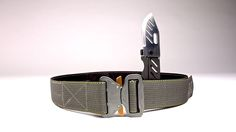 D-Belt II Tactical Belt... the PERFECT belt for concealed carry. Comes with Cobra QD buckle, a concealed Boker Credit Card Knife, and a hidden money slot.