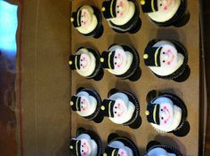 Toy soldier cupcakes
