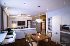 Дизайн гостиной 18 кв.м