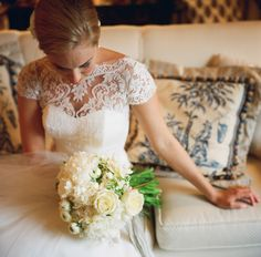 gorgeous lace gown | A Bryan Photo #wedding