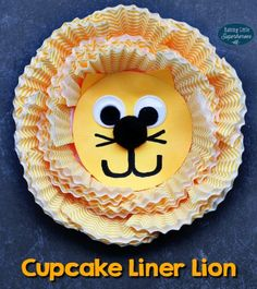 Cupcake Liner Lion | Raising Little Superheroes